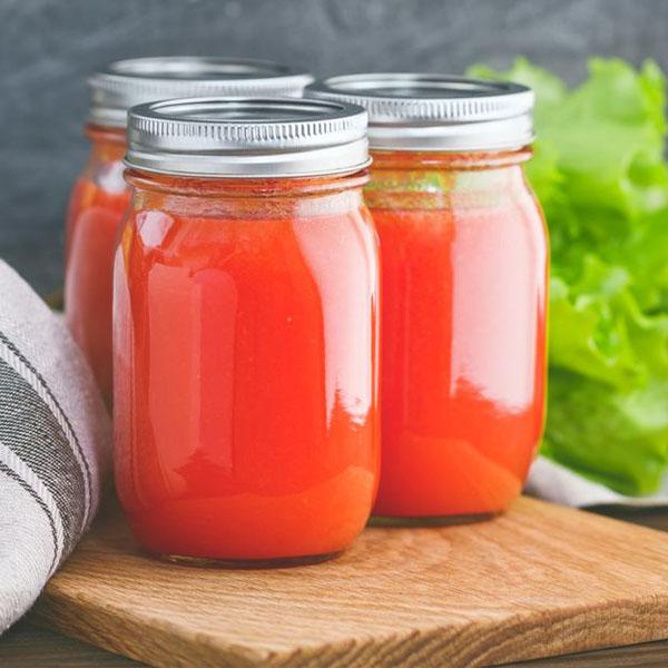 آموزش نحوه تهیه آب گوجه فرنگی